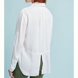Anthropologie Cloth & Stone Split Back Button Down